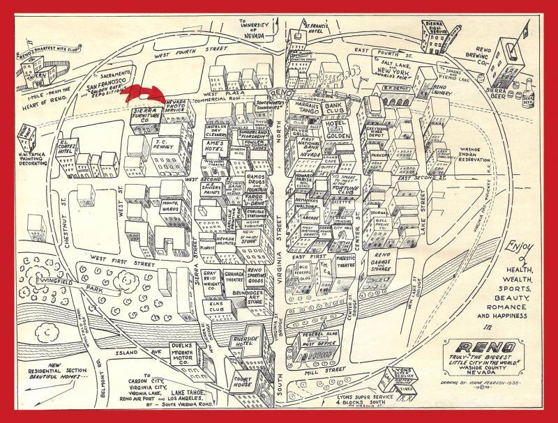 Downtown Reno Map on