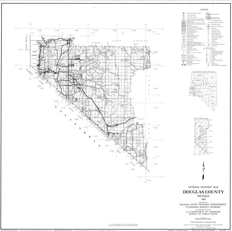 Douglas County Map 1965 : Photo Details :: The Western Nevada ... on