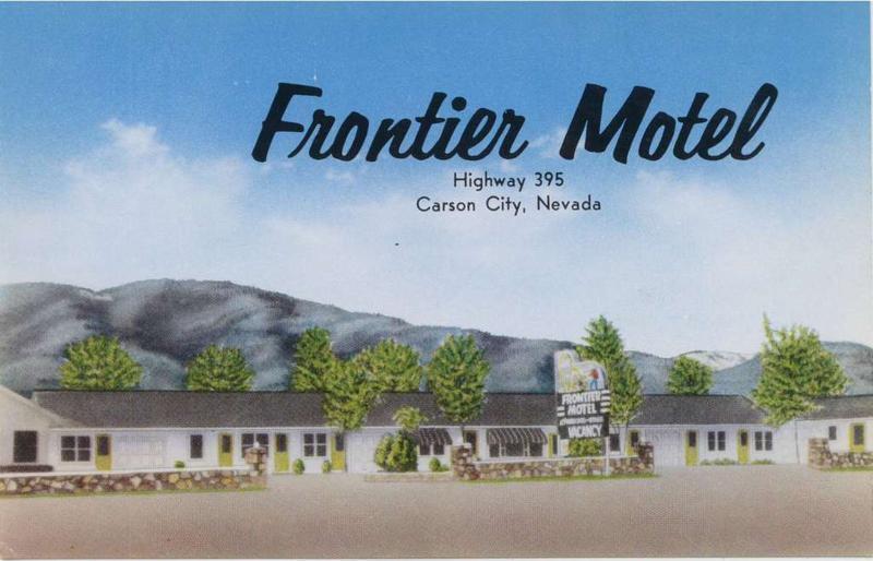 Frontier motel then and now around carson for Frontier motors el reno