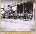 712. California Co's Stages leaving International Hotel, Virginia City, for California, via Donner Lake.