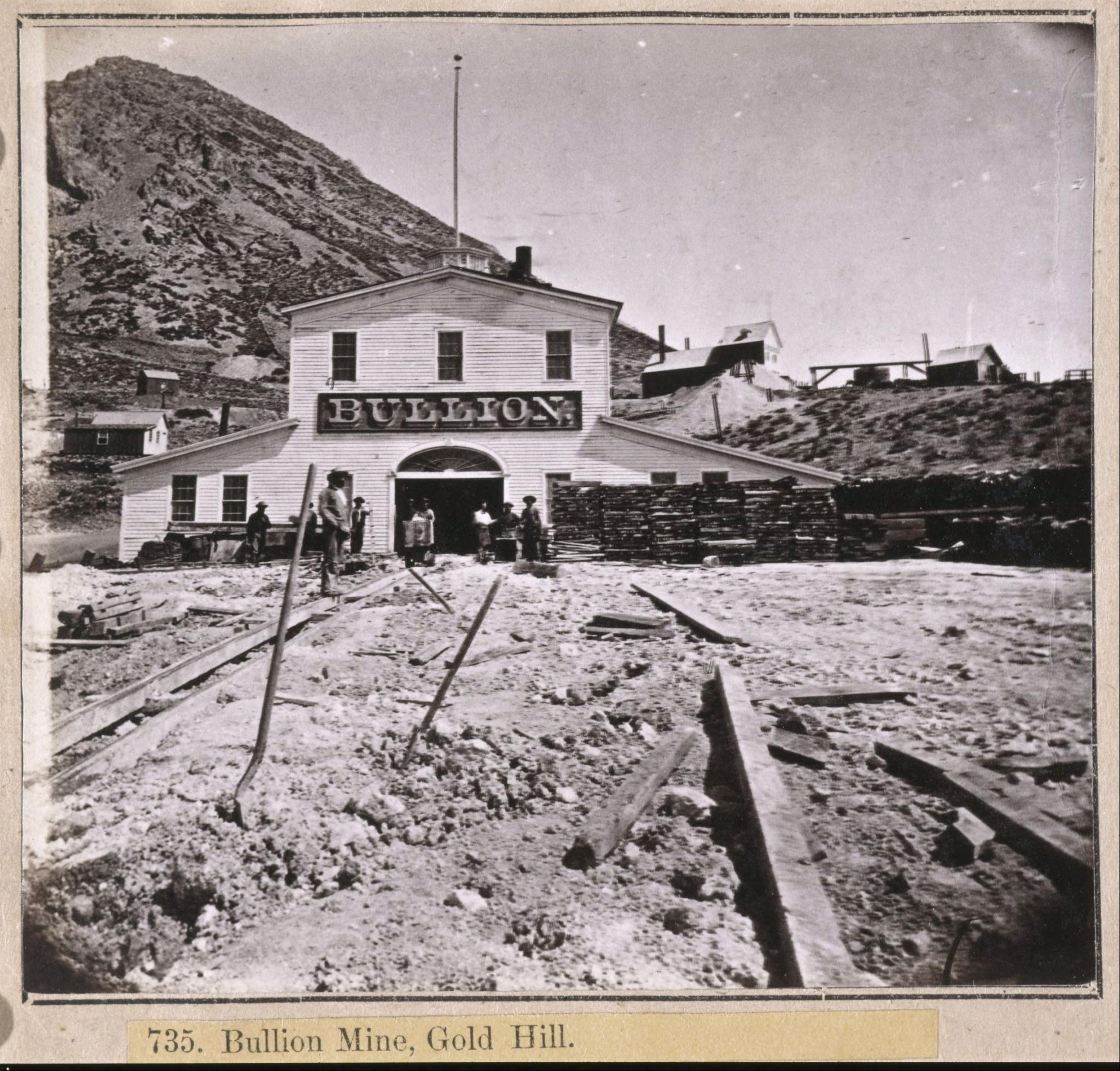 Gold And Silver Mining In Palestine Mail: 735. Bullion Mine, Gold Hill. : Photo Details :: The