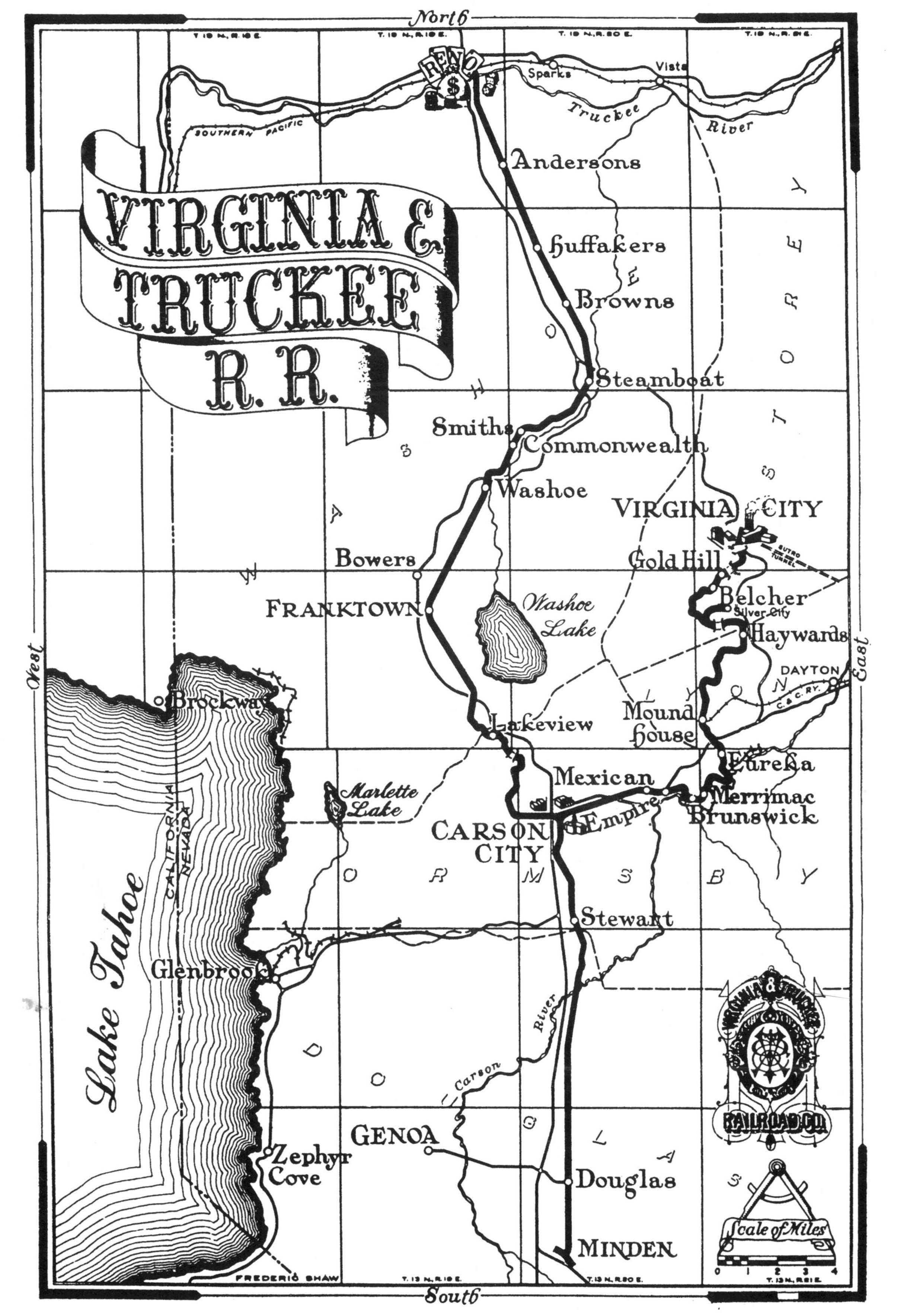 VT Route Map Photo Details The Western Nevada Historic Photo